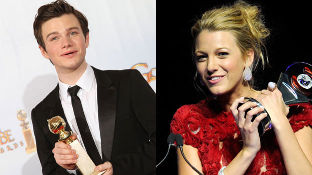 Chris Colfer i Blake Lively /AFP