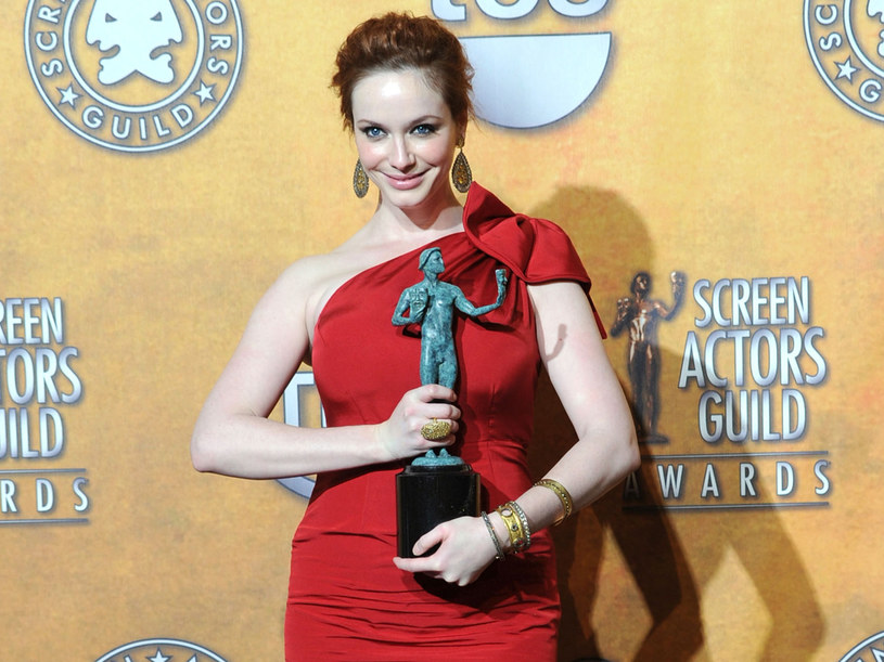"Christina Hendricks z serialu ""Mad Men"" z nagrodą SAG /Frazer Harrison /Getty Images/Flash Press Media"
