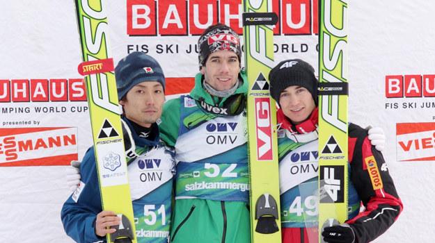 Daiki Ito, Anders Bardal i Kamil Stoch /AFP
