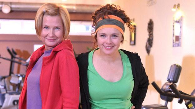 Ela i Małgorzata na gimnastyce /Agencja W. Impact