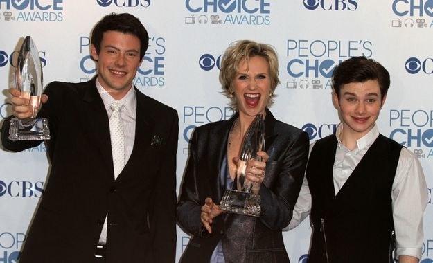 """Fenomen """"Glee"""" trwa w najlepsze - ekipa zgarnia People's Choice Awards 2011 /AFP"""
