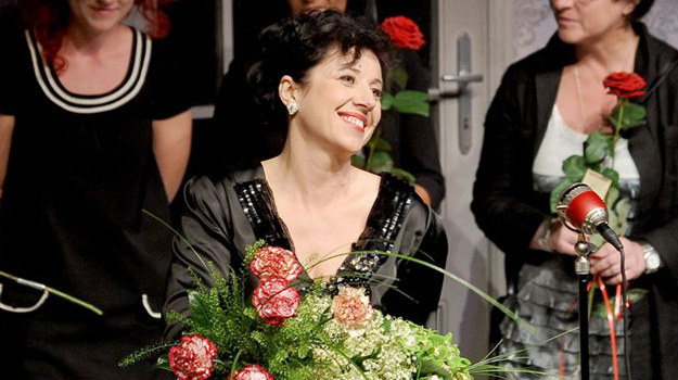 Hanna Śleszyńska w roli Judy Garland /Agencja W. Impact