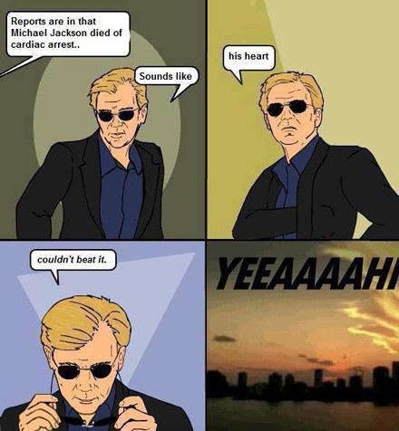 Horatio reaguje na wieść o śmierci Michaela Jacksona /4chan.org /