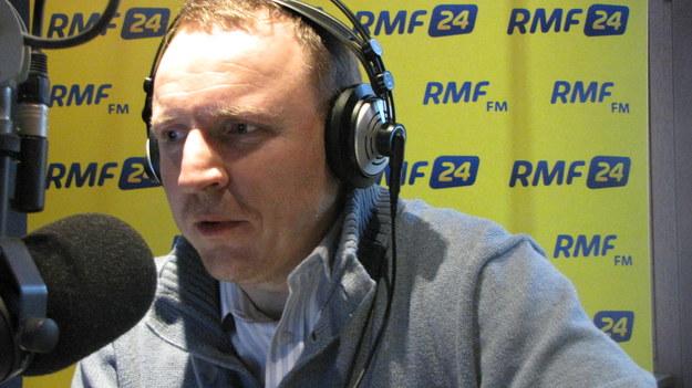 Jacek Kurski w trójmiejskim studiu RMF FM /Kuba Kaługa /RMF FM
