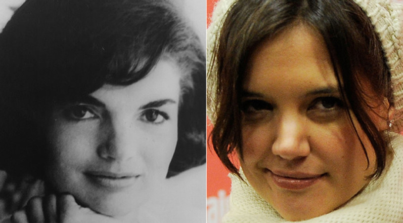 Jackie Kennedy i mająca wcielić się w nią w serialu, Katie Holmes /Jemal Countess /Getty Images/Flash Press Media