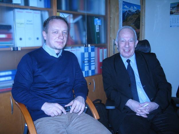 Jan Derkacz i prof. Andrzej Dziech /Grzegorz Jasiński /RMF FM