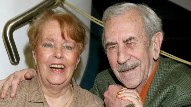 Jan Kobuszewski i jego ukochana żona, Hanna /Agencja W. Impact