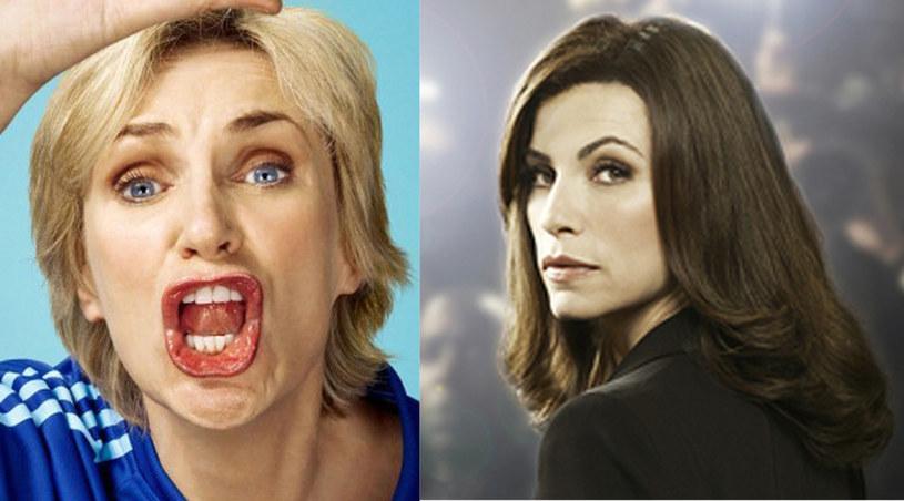 """Jane Lynch (""""Glee"""") i Julianna Margulies (""""Żona idealna"""") /materiały prasowe"""