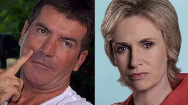 Jane Lynch twierdzi, że wzoruje się na Simonie Cowellu, kreując Sue Sylvester /materiały prasowe