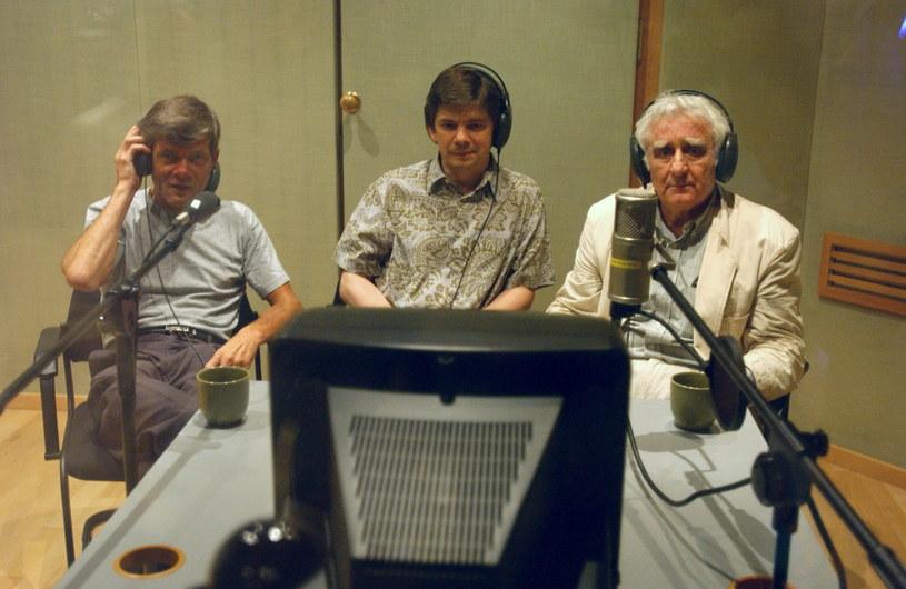 Jędryka,  Gołebiewski i Łobodziński spotkali się po latach pooglądać swoje wczesne dokonania /Agencja W. Impact