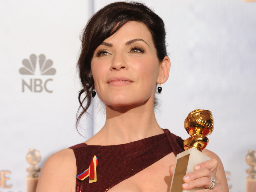 Julianna Margulies ze Złotym Globem dla najlepszej aktorki. /Kevin Winter /Getty Images/Flash Press Media
