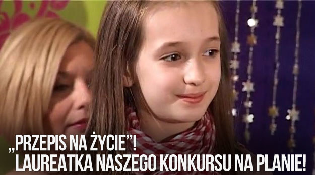 """Julkę na plan """"Przepisu na życie"""" zabrała mama - laureatka  naszego konkursu /swiatseriali.pl"""