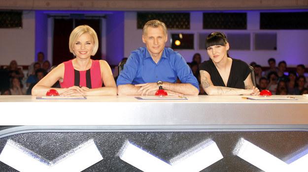 """Jury """"Mam talent"""". Od lewej: Małgorzata Foremniak, Robert  Kozyra, Agnieszka Chylińska /AKPA"""
