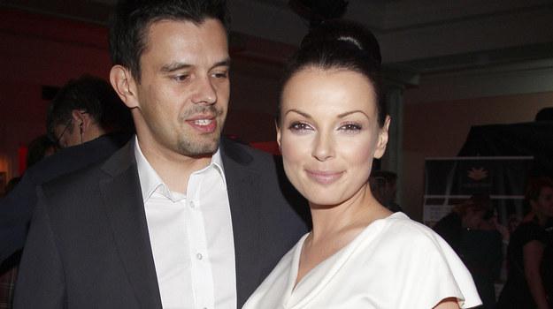Katarzyna Glinka z mężem Przemysławem Gołdonem. Fot. AKPA /AKPA