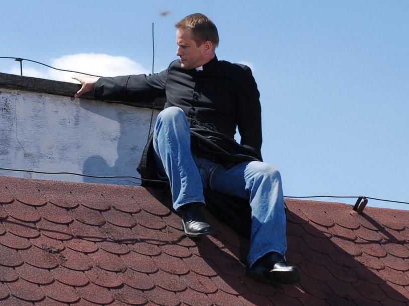 Lepszy Mateusz na dachu... /Agencja W. Impact