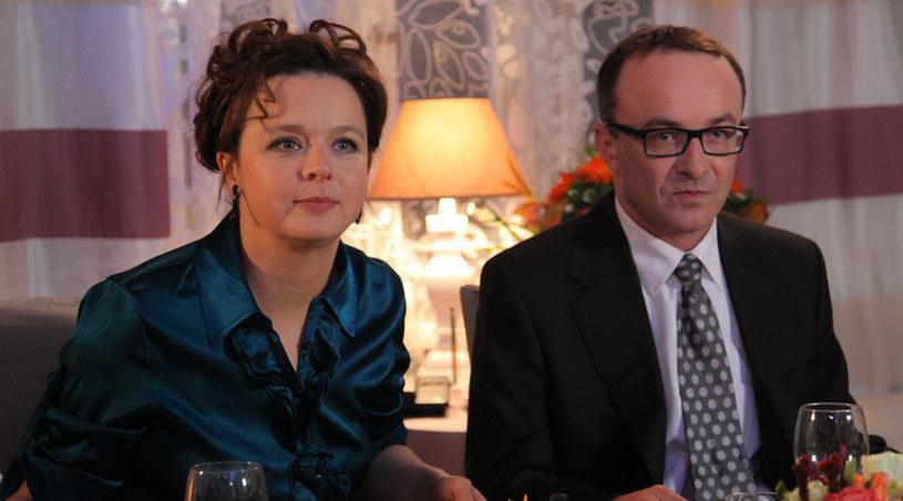 Małgorzata i Eugeniusz przy stole /Agencja W. Impact
