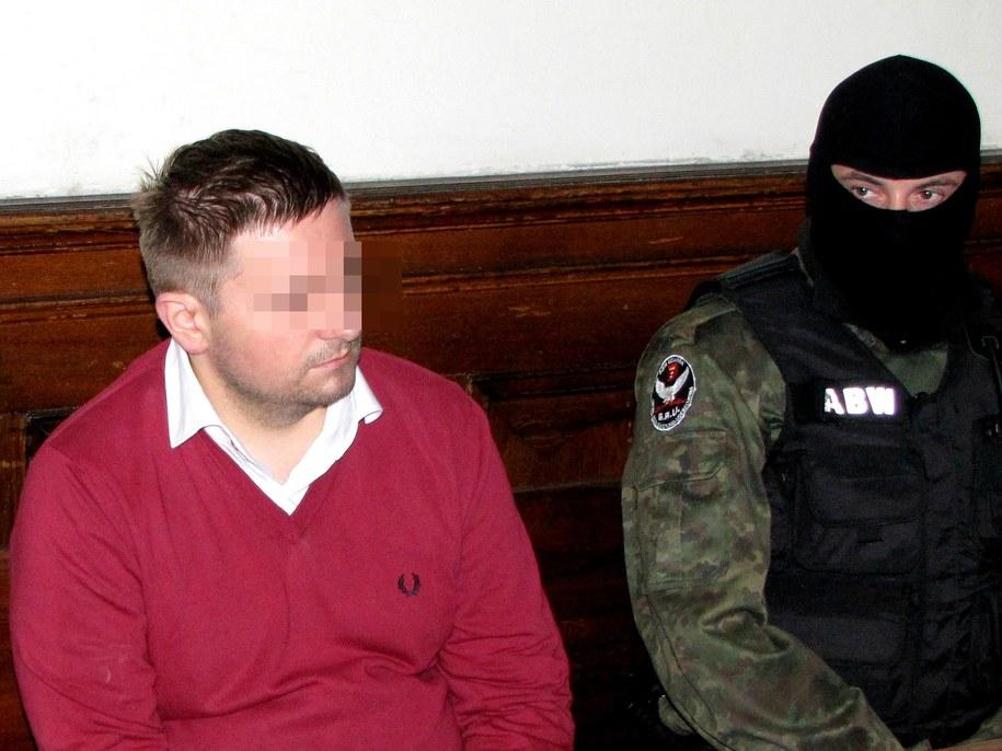 Marcin P. na sali sądowej /Dariusz Proniewicz /RMF FM