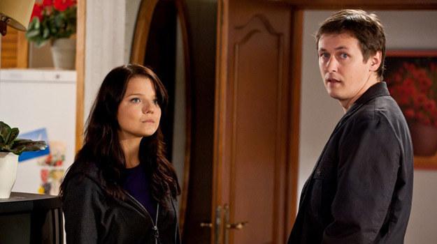 Marta (Joanna Jabłczyńska) i Filip (Marcin Chochlew) /materiały prasowe