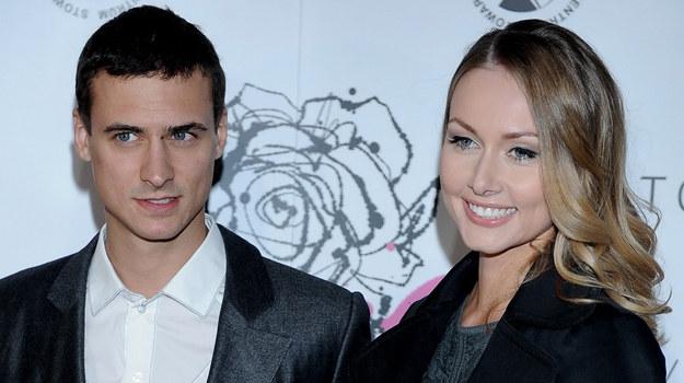 Mateusz Damięcki z żoną /Agencja W. Impact
