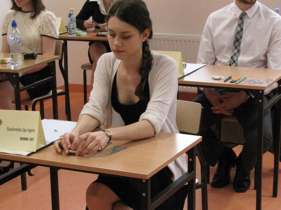 Maturzyści zdają międzynarodowy egzamin /fot. Michał Fit /RMF FM