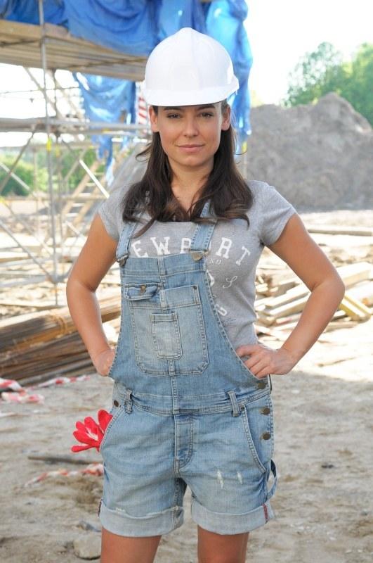 Monika na budowie /Agencja W. Impact