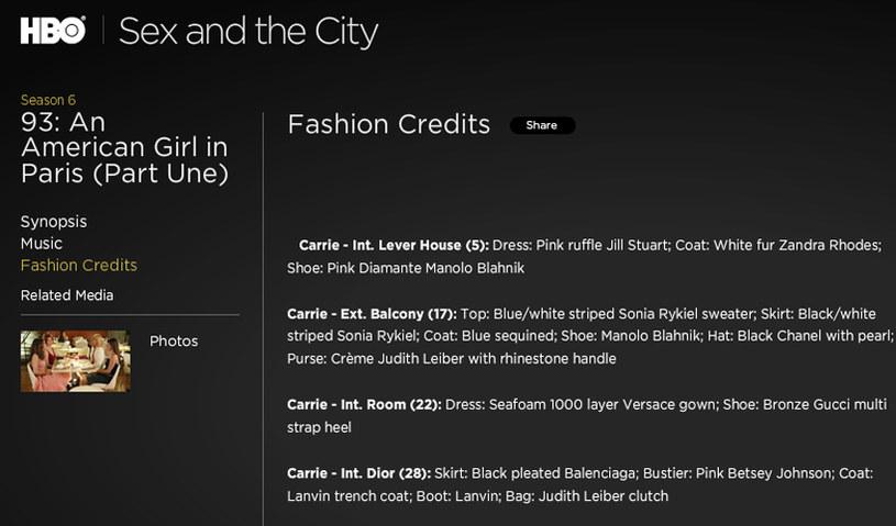 Na oficjalnej stronie serialu możesz prześledzić odcinek po odcinku pod kątem mody! /materiały prasowe