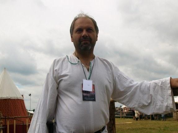 Odtwórca roli Władysława Jagiełły - Jacek Szymański /Andrzej Piedziewicz /RMF FM