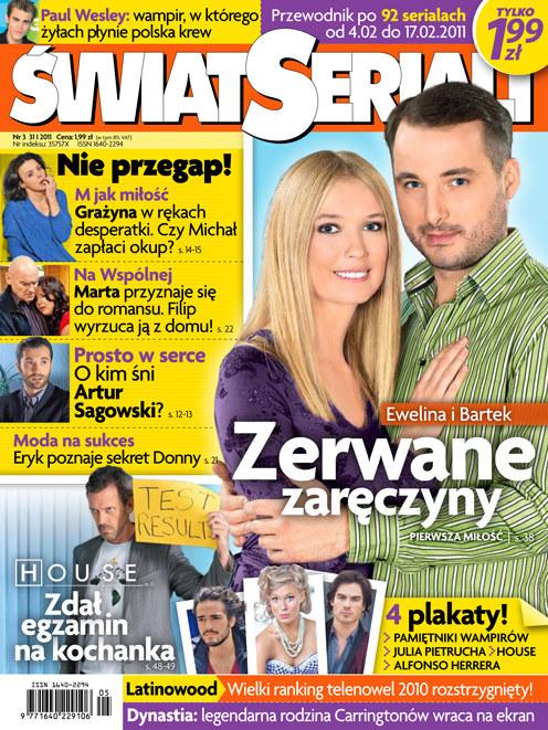 """Okładka nowego """"Świata Seriali"""" /Świat Seriali"""