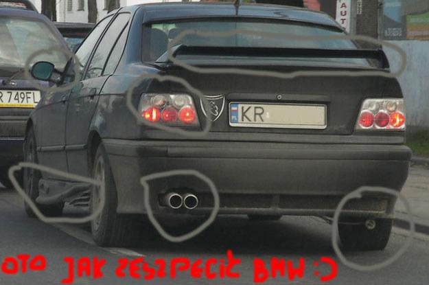 Pomysłowość rodaków w upiększaniu samochodów nie zna granic /poboczem.pl