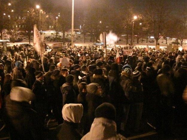 Protest przeciwko ACTA w Gdańsku /Dariusz Proniewicz /RMF FM