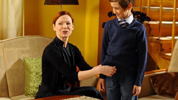"""""""Sasza, a właściwie Piotr, mój serialowy syn jest bardzo wrażliwym chłopcem i utalentowanym aktorem"""" - mówi Leonenko /Agencja W. Impact"""
