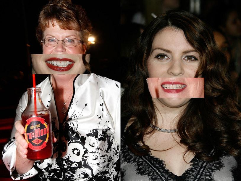 """Słynne autorki książek o wampirach: Stephenie Meyer (cykl """"Zmierzch""""- zdjęcie po prawej) i Charlaine Harris (cykl """"Czysta krew""""). /Vince Bucci/ Michael Buckner /Getty Images/Flash Press Media"""