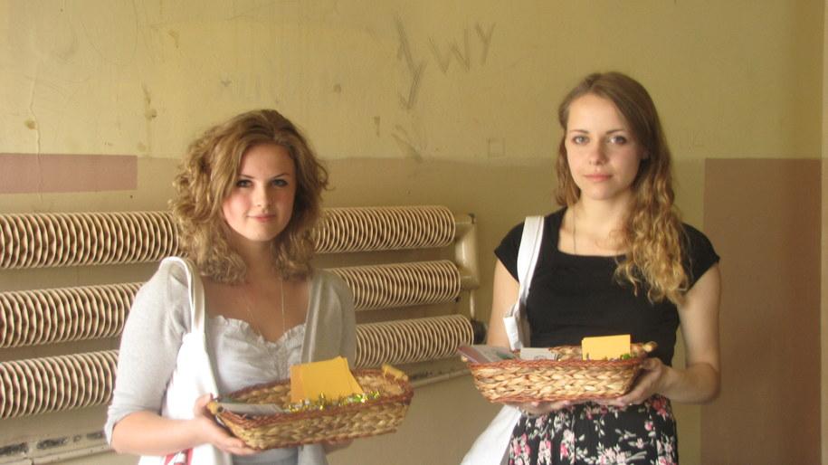Studentki Beata i Ewelina, organizatorki akcji /fot. Anna Kropaczek /RMF FM