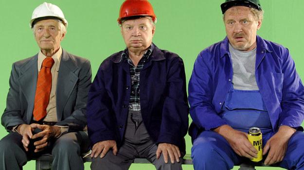 """Takich gości, bohaterów kultowego serialu sprzed 35 lat, jeszcze nie było na planie """"Świata według Kiepskich"""" /Agencja W. Impact"""