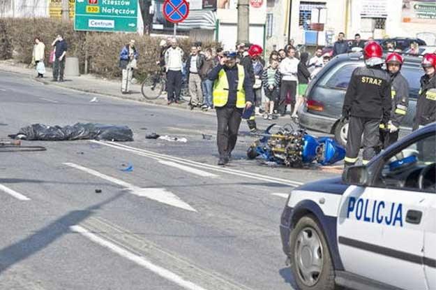 Tragiczna śmierć motocyklisty...