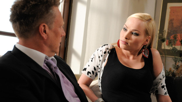 Weronika z  Janem Jankowskim na planie serialu /Agencja W. Impact