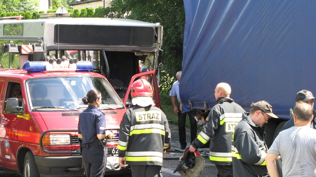 Zdjęcie z miejsca wypadku /Anna Kropaczek /RMF FM