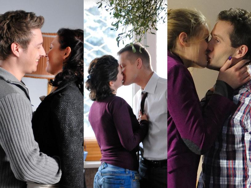 """Zdradzamy, że potrójną lekcję całowania zobaczymy w 737. odcinku """"M jak miłość"""" (emisja w poniedziałek 4 kwietnia) /Agencja W. Impact"""