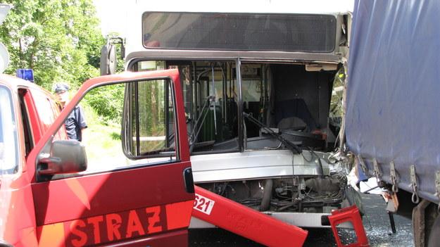 Zniszczony autobus /Anna Kropaczek /RMF FM