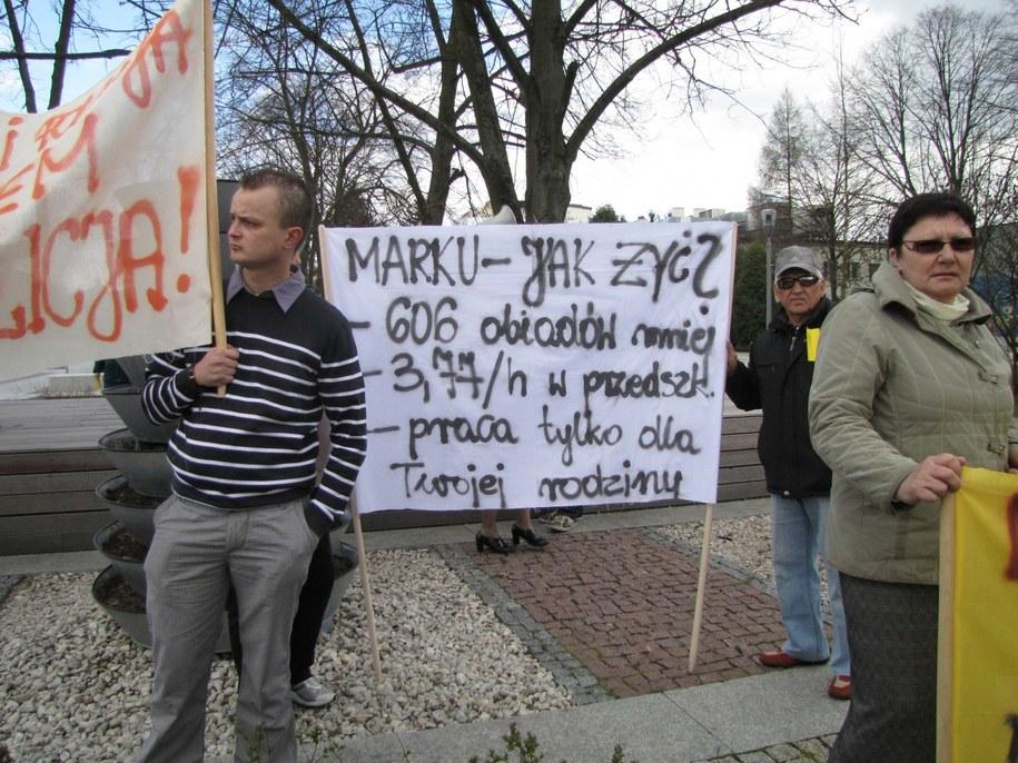 Żółta manifestacja w Bełchatowie /Agnieszka Wyderka /RMF FM
