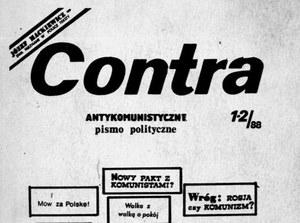 """""""Contra"""". Antykomunistyczne pismo polityczne Liberalno-Demokratycznej Partii """"Niepodległość"""""""