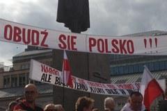 """""""Dość Tuskolandii!"""" na Placu Trzech Krzyży"""