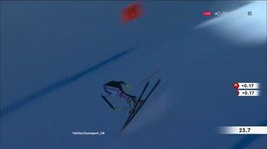 """""""Jakim cudem utrzymał się na nartach?"""". Niesamowity wyczyn Maxence'a Muzatona"""