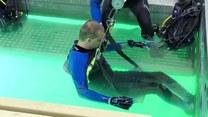 """""""Jedyny taki obiekt na świecie"""". W Pile powstała specjalna platforma, która umożliwi nurkowanie niepełnosprawnym przez cały rok"""