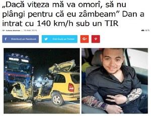"""""""Jeśli zabije mnie prędkość, nie płacz"""". Tydzień później już nie żył"""