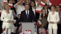 """""""Niech żyje Polska"""". Andrzej Duda po ogłoszeniu wyników exit poll"""