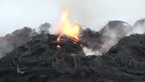 """""""Ogień sięgał kilkunastu metrów"""". Pożar fabryki i składowiska opon w Lubelskiem"""