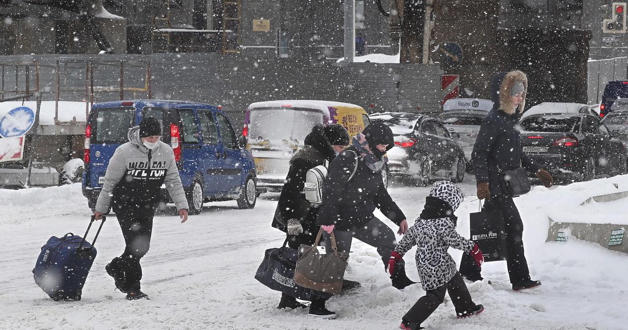 """""""Śnieżna apokalipsa"""" w Moskwie"""