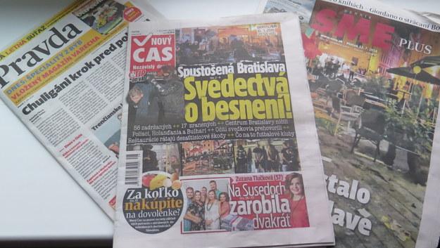 """""""Spustoszona Bratysława"""", """"Zwykli bandyci"""". Słowacka prasa o bójce z udziałem pseudokibiców Cracovii"""