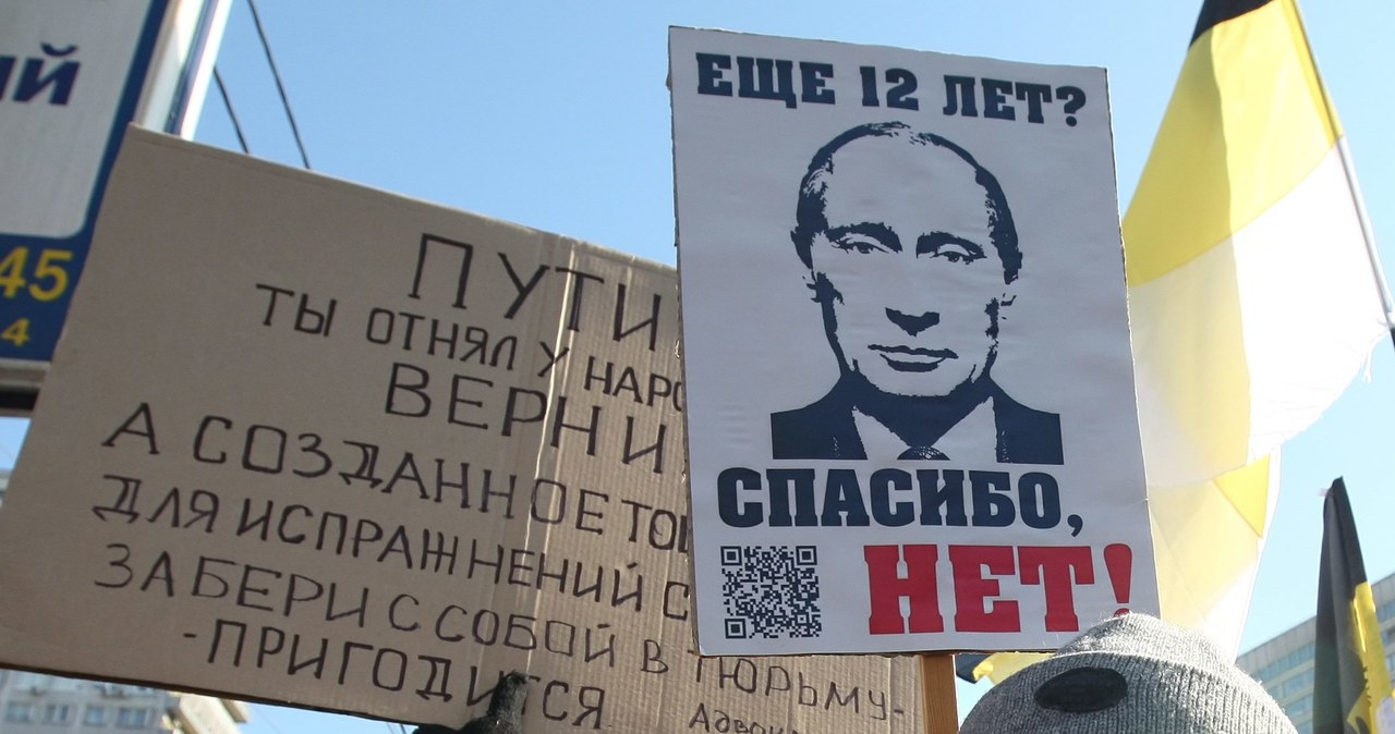 """""""To nie były wybory, to nie jest prezydent"""" - demonstracja w Moskwie"""